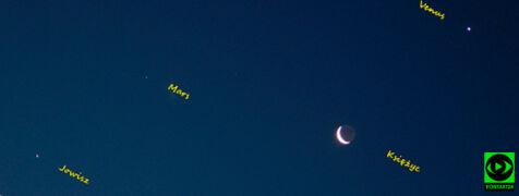 Księżyc w towarzystwie Wenus, Marsa i Jowisza na zdjęciach Reporterów 24