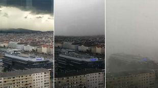 Zobacz, jak Wiedeń znika pod chmurami