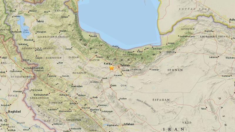 Trzęsienie ziemi w Teheranie