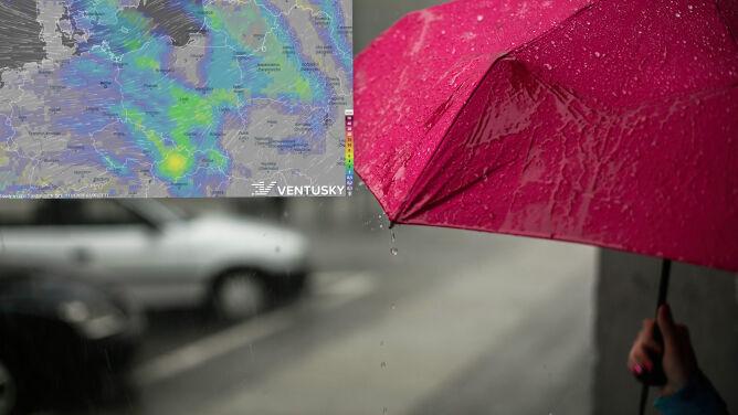 Pogoda na pięć dni: deszcz i deszcz ze śniegiem, ale z każdym dniem cieplej