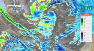 Prognoza opadów na środę (ICM UW)