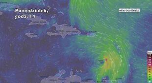 Porywy wiatru w burzy tropikalnej